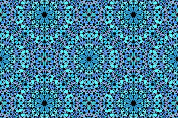Download Free Blue Seamless Floral Mandala Pattern Graphic By Davidzydd SVG Cut Files