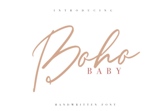 Download Free Boho Baby Font By Katie Holland Creative Fabrica for Cricut Explore, Silhouette and other cutting machines.