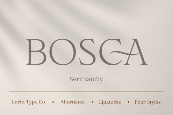 Print on Demand: Bosca Serif Font By Pasha Larin - Image 1