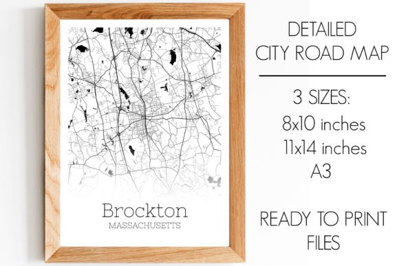 Brockton Massachusetts City Map Graphic By Svgexpress Creative