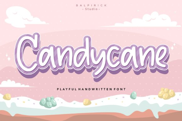 Download Free Candycane Font By Balpirick Creative Fabrica for Cricut Explore, Silhouette and other cutting machines.