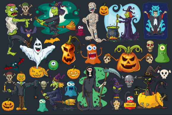 Cartoon Characters & Items Bundle Graphic Download