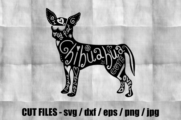 Download Free Chihuahua Silhouette Cut File Graphic By Prawny Creative Fabrica for Cricut Explore, Silhouette and other cutting machines.