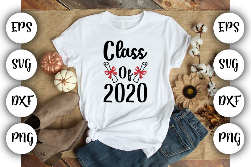 Download Free Class Of 2020 Graphic By Design Store Creative Fabrica for Cricut Explore, Silhouette and other cutting machines.