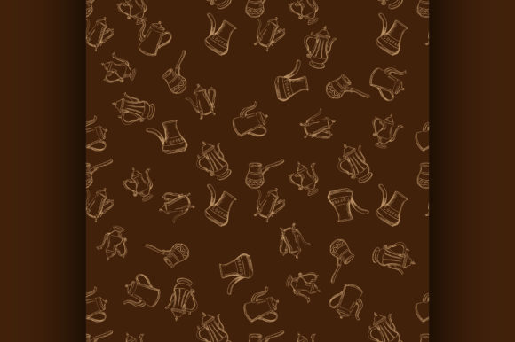 Coffee Seamless Pattern Graphic Illustrations By netkov1