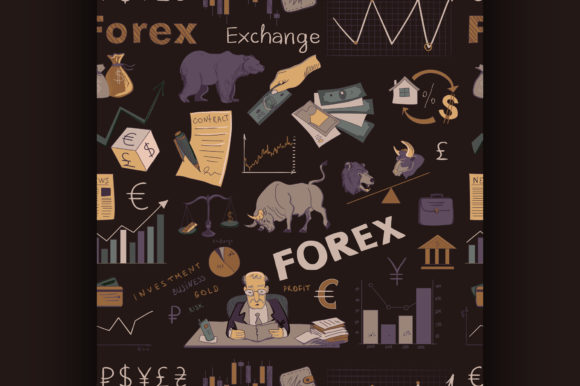 Colored Finance Forex Hand Drawing Graphic Illustrations By netkov1