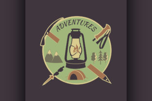 Colored Vintage Adventure Label Graphic Illustrations By netkov1