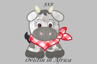Cool Baby Cow Small Baby Animals Embroidery Design By Ovistin in Africa
