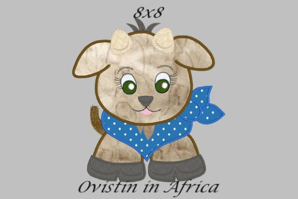 Cool Baby Goat Large Baby Animals Embroidery Design By Ovistin in Africa