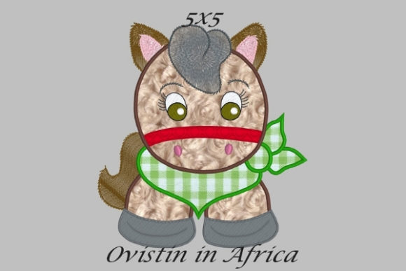 Cool Baby Horse Small Baby Animals Embroidery Design By Ovistin in Africa
