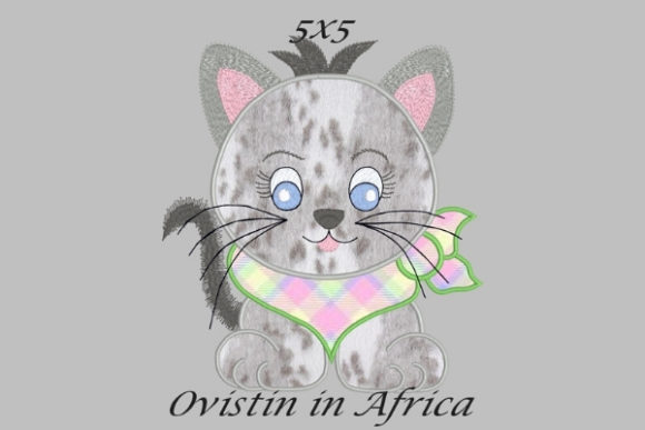 Cool Baby Kitten Small Baby Animals Embroidery Design By Ovistin in Africa