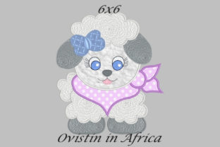 Cool Baby Lamb Medium Baby Animals Embroidery Design By Ovistin in Africa