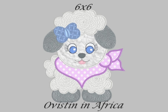 Cool Baby Lamb Medium Tierkinder Stickdesign von Ovistin in Africa