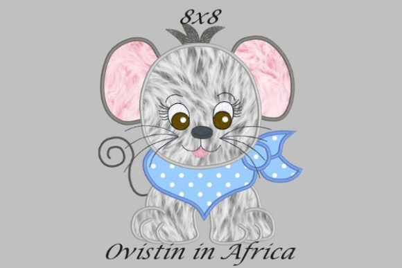 Cool Baby Mouse Large Baby Animals Embroidery Design By Ovistin in Africa - Image 1