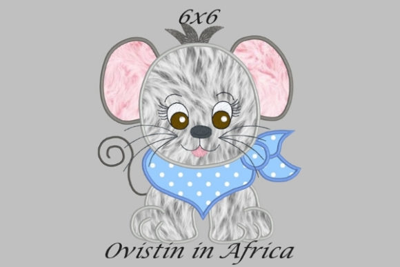 Cool Baby Mouse Medium Baby Animals Embroidery Design By Ovistin in Africa