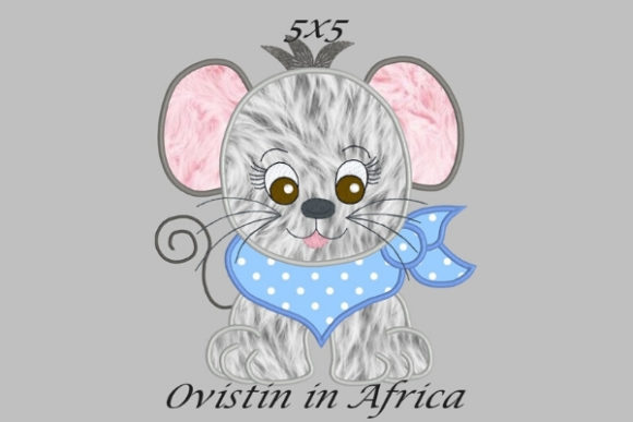 Cool Baby Mouse Small Baby Animals Embroidery Design By Ovistin in Africa