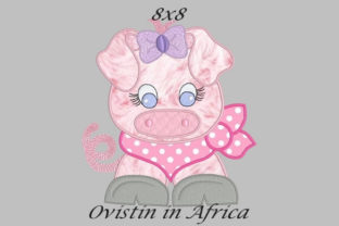 Cool Baby Piglet Large Baby Animals Embroidery Design By Ovistin in Africa