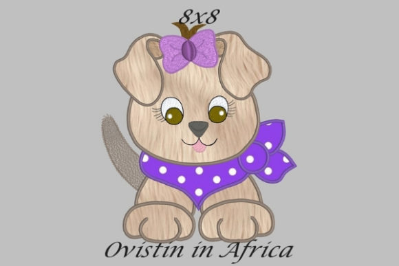 Cool Baby Puppy Large Baby Animals Embroidery Design By Ovistin in Africa