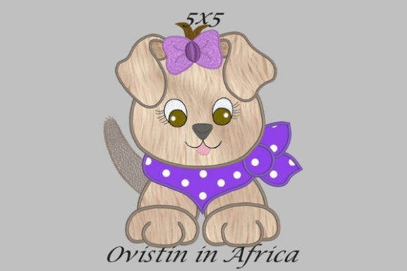 Cool Baby Puppy Small Baby Animals Embroidery Design By Ovistin in Africa - Image 1