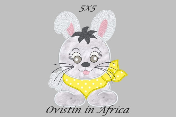 Cool Baby Rabbit Small Baby Animals Embroidery Design By Ovistin in Africa - Image 1