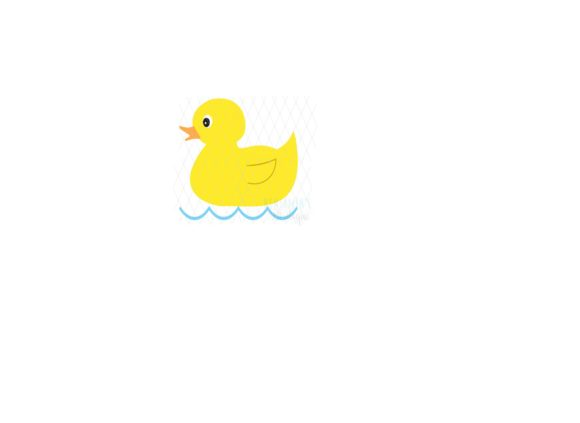 Download Free Cute Cartoon Rubber Duckie Baby Duck Graphic By Cynthia0328 for Cricut Explore, Silhouette and other cutting machines.