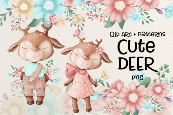 Print on Demand: Cute Deer Gráfico Ilustraciones Por nicjulia