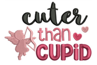 Cuter Than Cupid Valentine's Day Embroidery Design By designsbymira