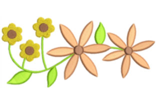 Daisy Flowers Bouquets & Bunches Embroidery Design By designsbymira