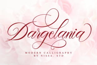 Print on Demand: Dargelania Script & Handwritten Font By NissaStudio