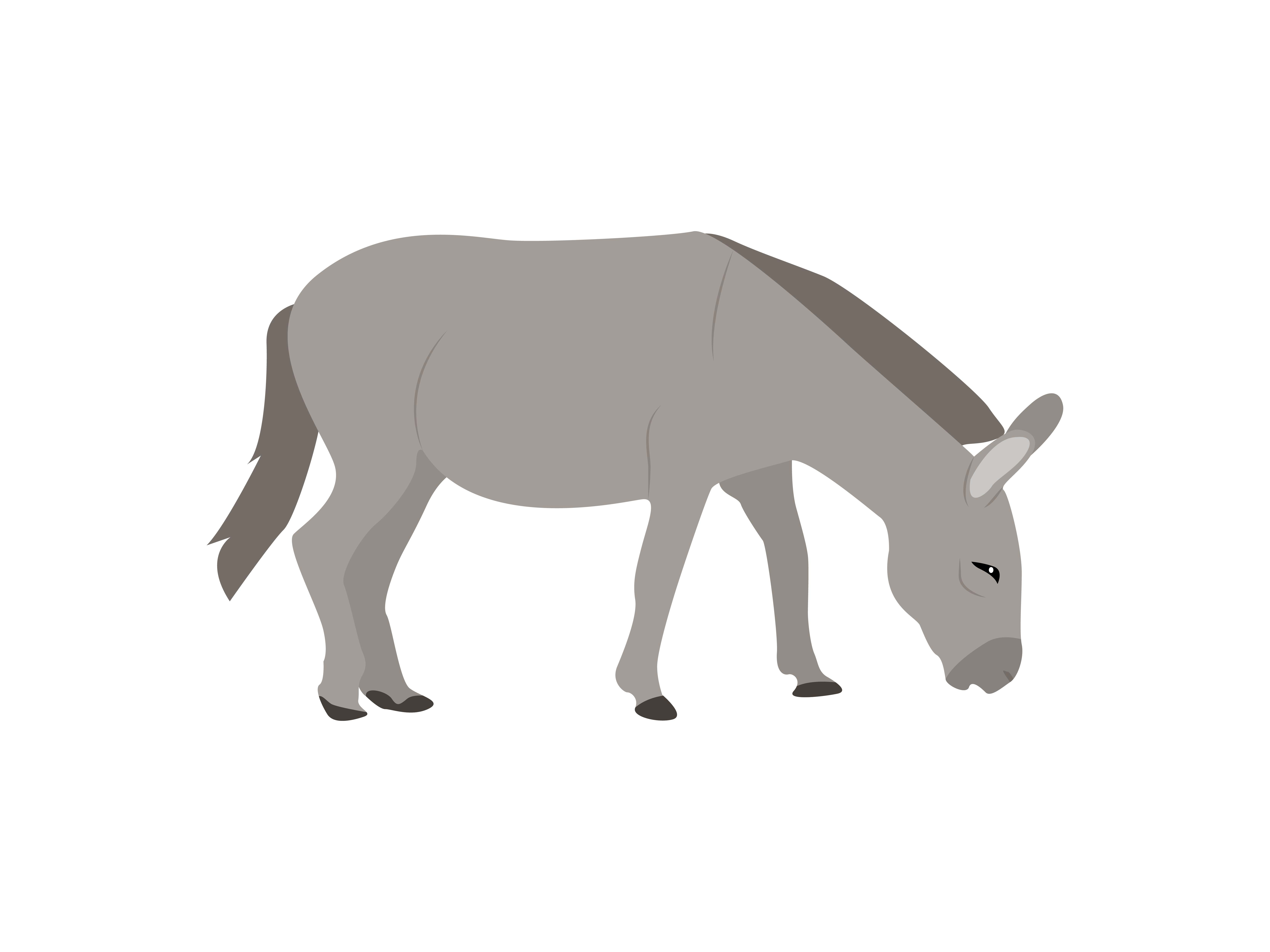 Download Free Donkey Animal Graphic By Archshape Creative Fabrica for Cricut Explore, Silhouette and other cutting machines.