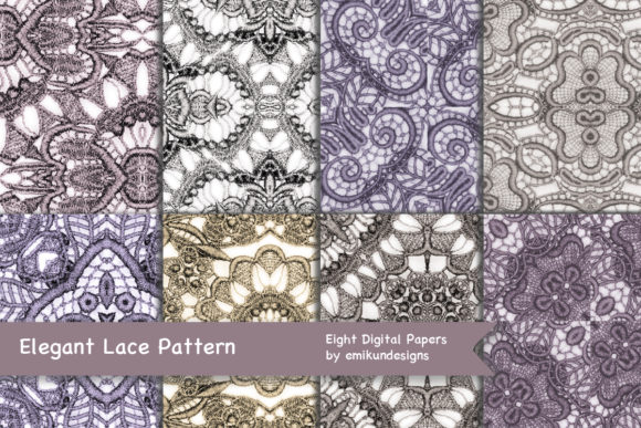 Download Free Elegant Embroidered Lace Patterns Graphic By Emikundesigns for Cricut Explore, Silhouette and other cutting machines.