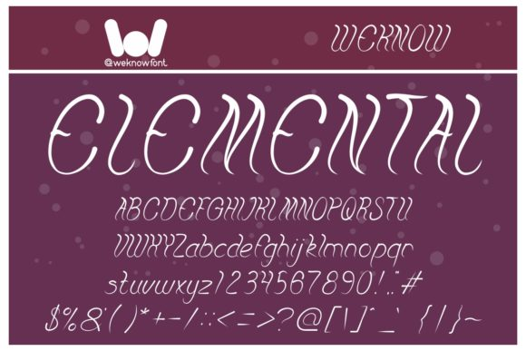 Print on Demand: Elemental Display Font By weknow