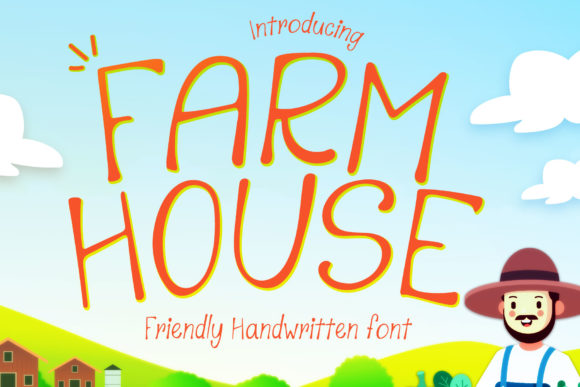 Download Free Farmhouse Font By Numnim Creative Fabrica for Cricut Explore, Silhouette and other cutting machines.