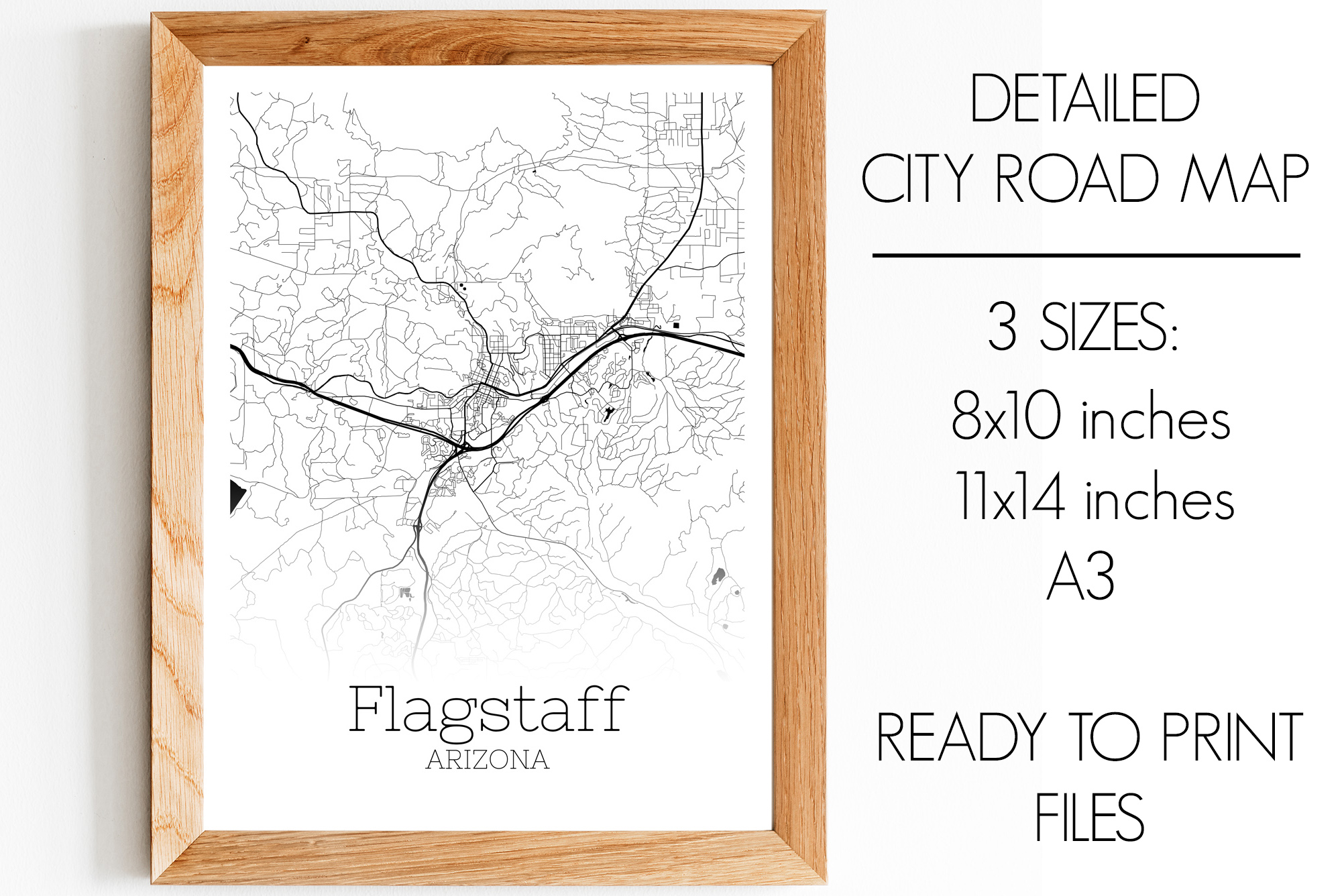 Download Free Flagstaff Arizona City Map Graphic By Svgexpress Creative Fabrica for Cricut Explore, Silhouette and other cutting machines.