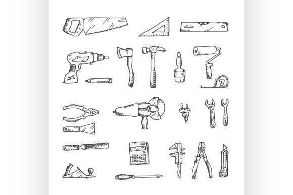 Download Free Freehand Drawing Construction Graphic By Netkov1 Creative Fabrica for Cricut Explore, Silhouette and other cutting machines.