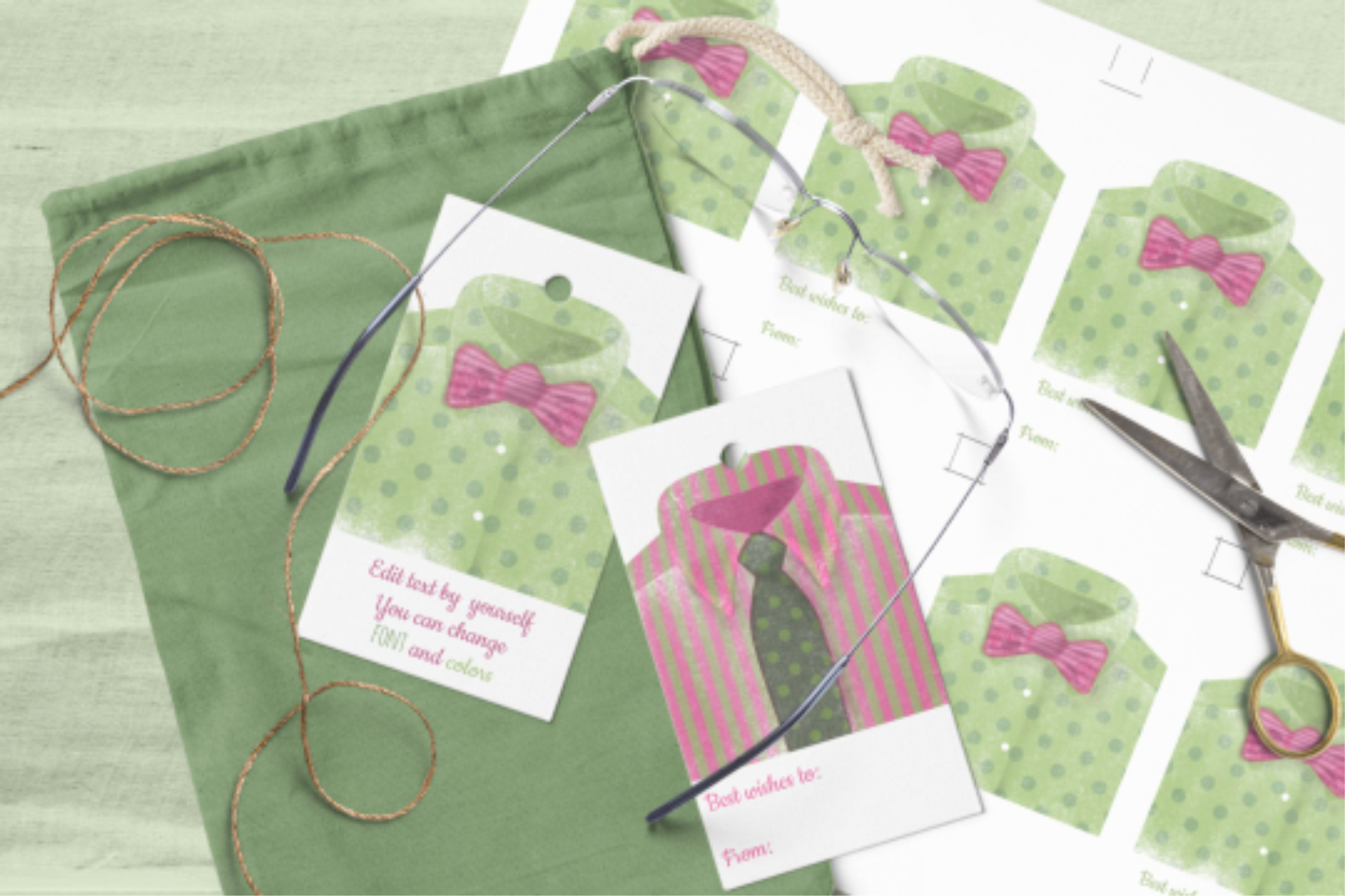 Download Free Gift Tags For Him Watercolor Man Shirts Graphic By Print Cut for Cricut Explore, Silhouette and other cutting machines.