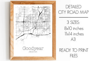 Download Free Goodyear Arizona City Map Graphic By Svgexpress Creative Fabrica for Cricut Explore, Silhouette and other cutting machines.