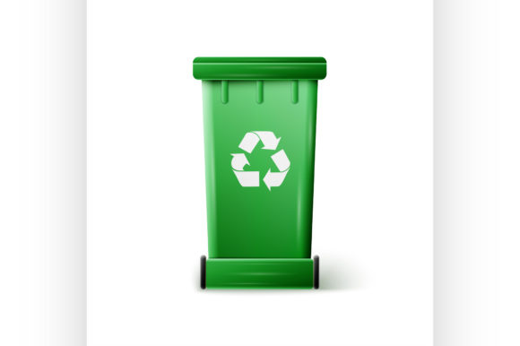 Green Recycle Bin Graphic Illustrations By netkov1