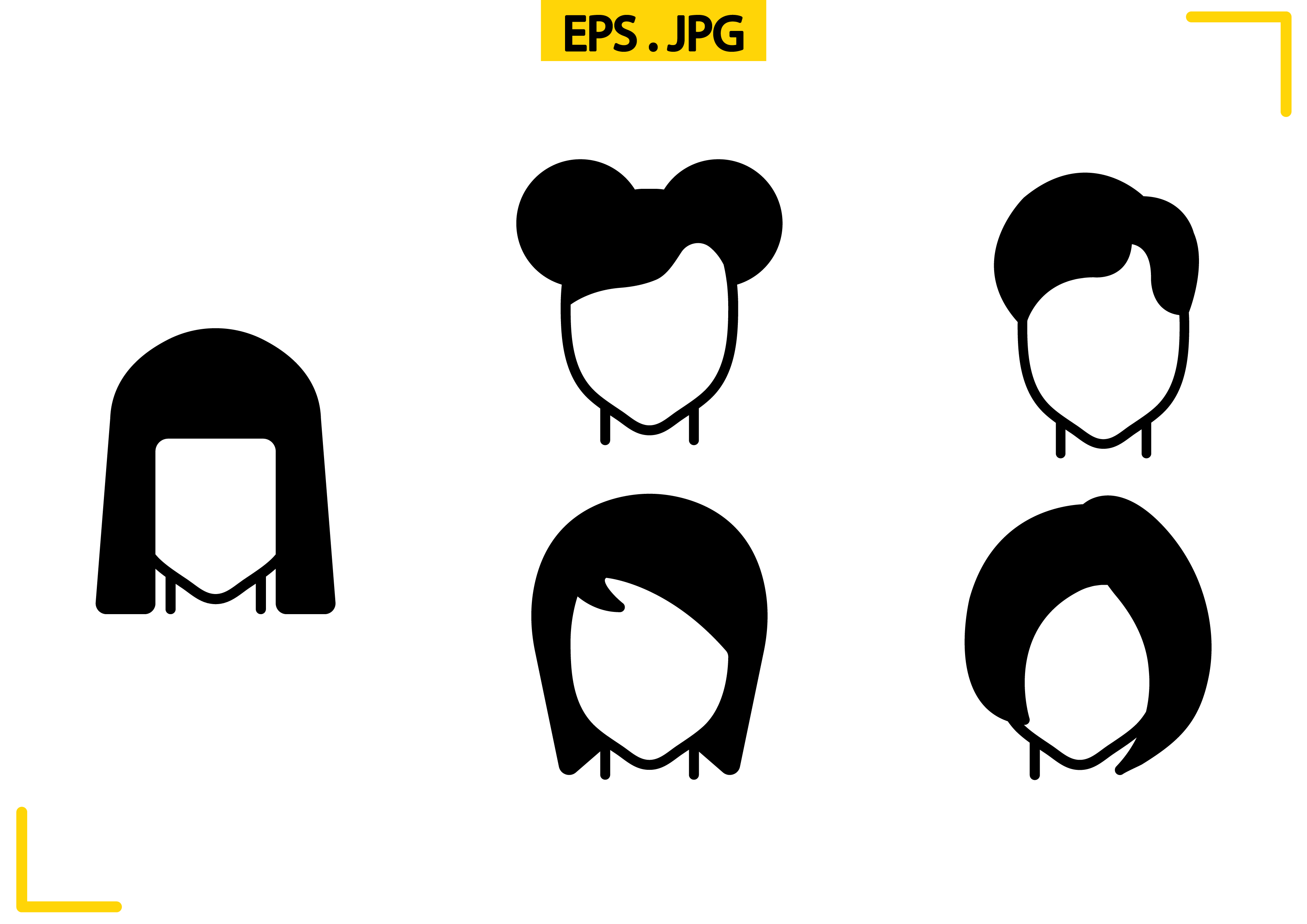 Download Free Hairstyles Solid Graphic By Raraden655 Creative Fabrica for Cricut Explore, Silhouette and other cutting machines.