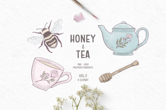 Print on Demand: Hand-drawn Bee Clipart Graphic Illustrations By Wallifyer