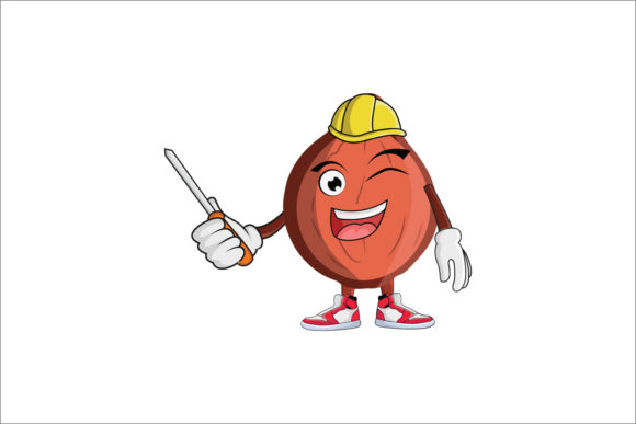 Download Free Hazelnut Construction Worker Cartoon Graphic By Printablesplazza Creative Fabrica for Cricut Explore, Silhouette and other cutting machines.