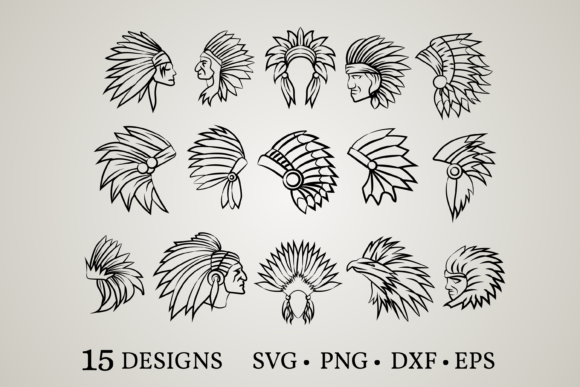 Download Free 1 Headdress Cricut Designs Graphics for Cricut Explore, Silhouette and other cutting machines.
