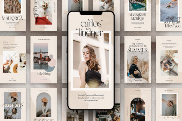 Download Free Instaflow 50 Instagram Stories Pack Graphic By Silverstag for Cricut Explore, Silhouette and other cutting machines.