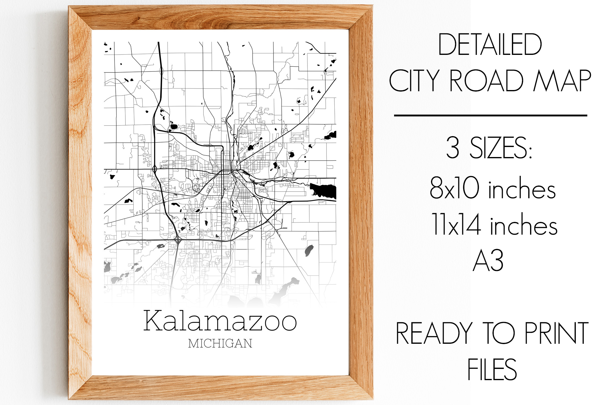 Download Free Kalamazoo Michigan City Map Graphic By Svgexpress Creative Fabrica for Cricut Explore, Silhouette and other cutting machines.