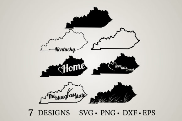 Download Free Kentucky Map Graphic By Euphoria Design Creative Fabrica for Cricut Explore, Silhouette and other cutting machines.