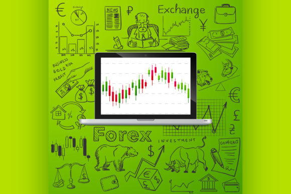 Laptop and Exchange Doodle Icon Graphic Illustrations By netkov1
