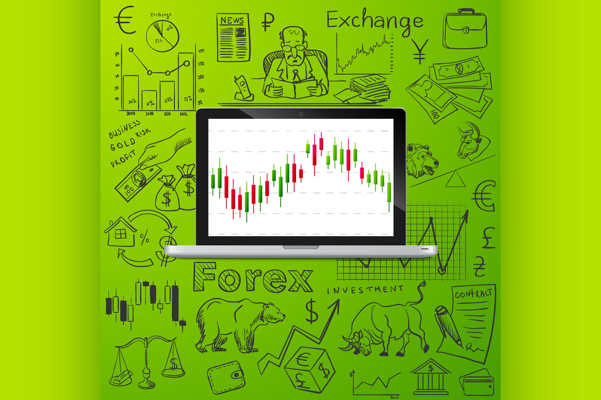 Download Free Laptop And Exchange Doodle Icon Graphic By Netkov1 Creative for Cricut Explore, Silhouette and other cutting machines.