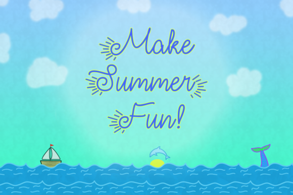 Print on Demand: Make Summer Fun Script & Handwritten Font By Misti