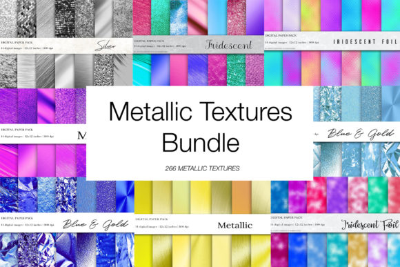 Download Free Metallic Textures Bundle Graphic By Bonadesigns Creative Fabrica for Cricut Explore, Silhouette and other cutting machines.