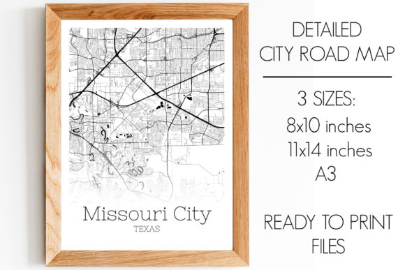 Print on Demand: Missouri City Texas City Map Graphic Photos By SVGExpress